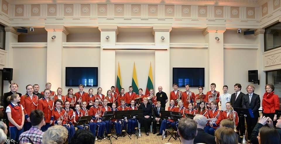 """Panevėžio rajono jungtinis varinių pučiamųjų instrumentų orkestas """"Aukštyn"""""""
