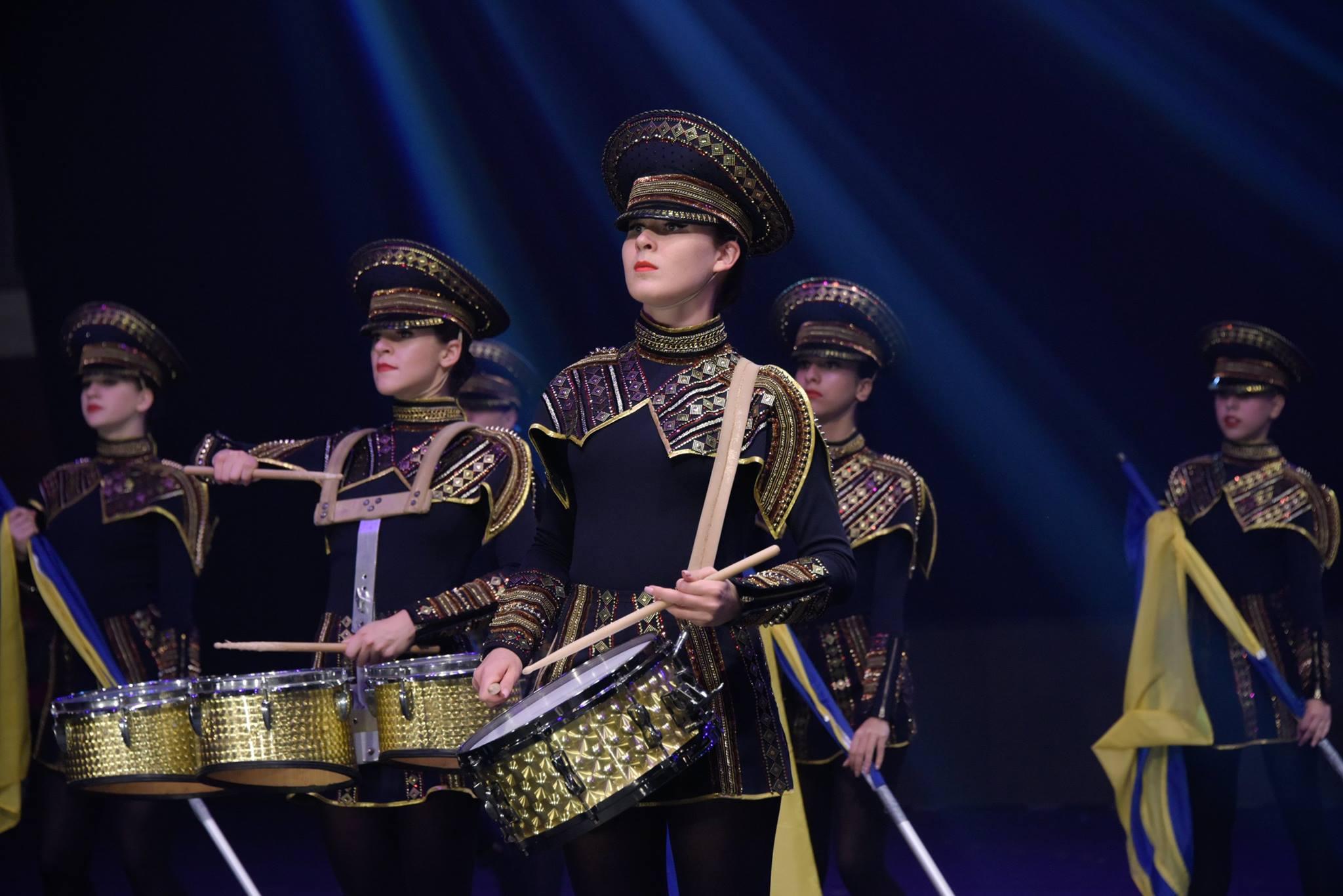 Drum-show girls Crazy Drummers.Odessa.Ukraine