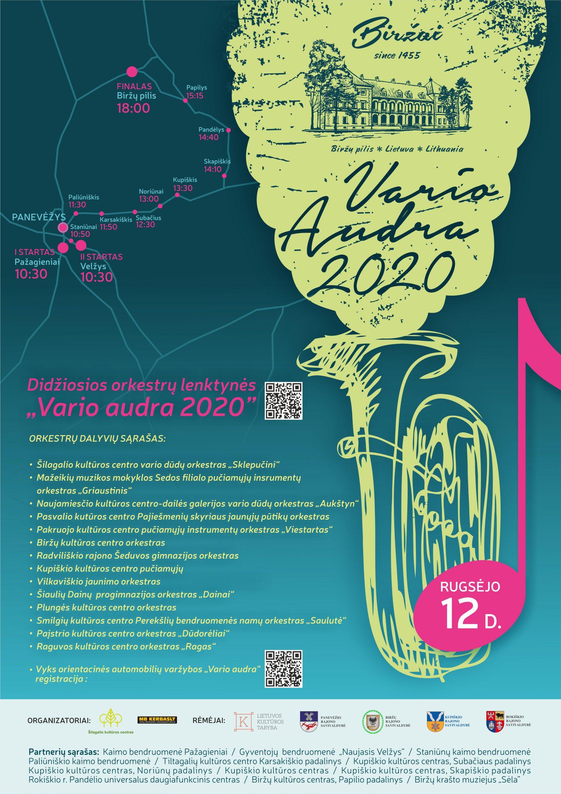 """Didžiosios orkestrų lenktynės """"Vario audra 2020"""""""