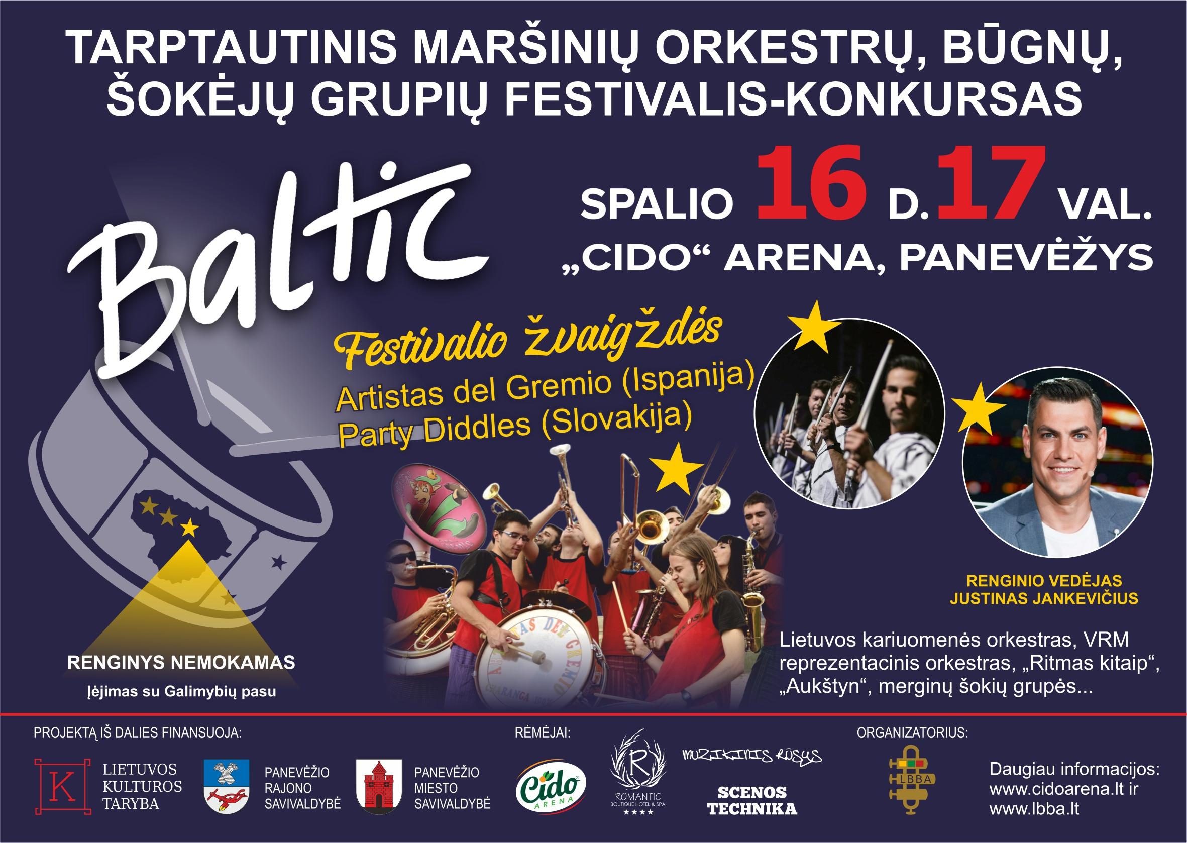 """Tarptautinis maršinių orkestrų, būgnų, šokėjų grupių festivalis – konkursas """"Baltic 2021"""""""